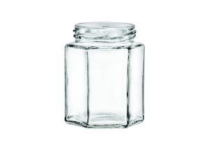 Hexagon Style Glass Jars